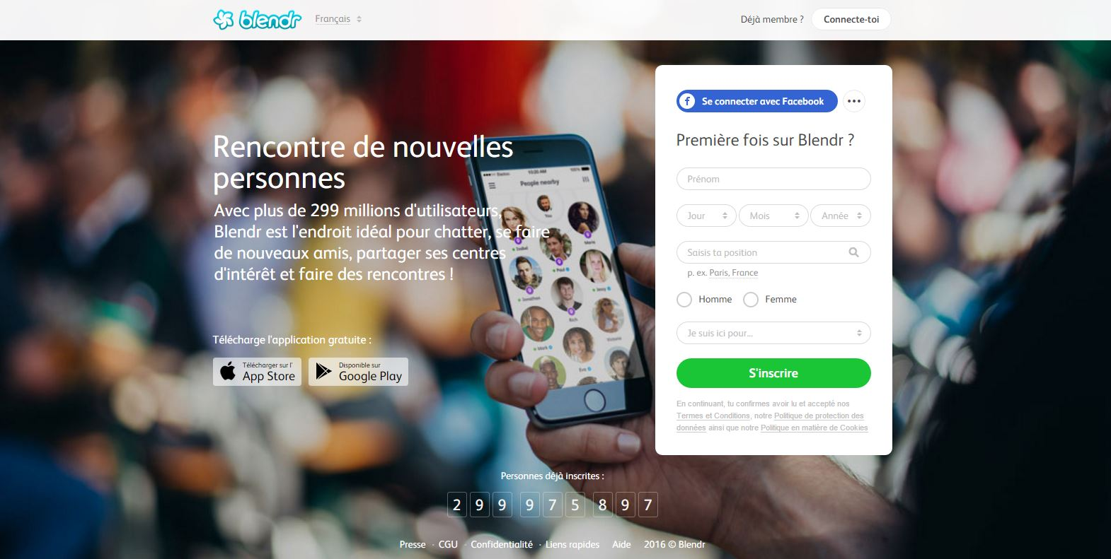 Site de rencontre blendr