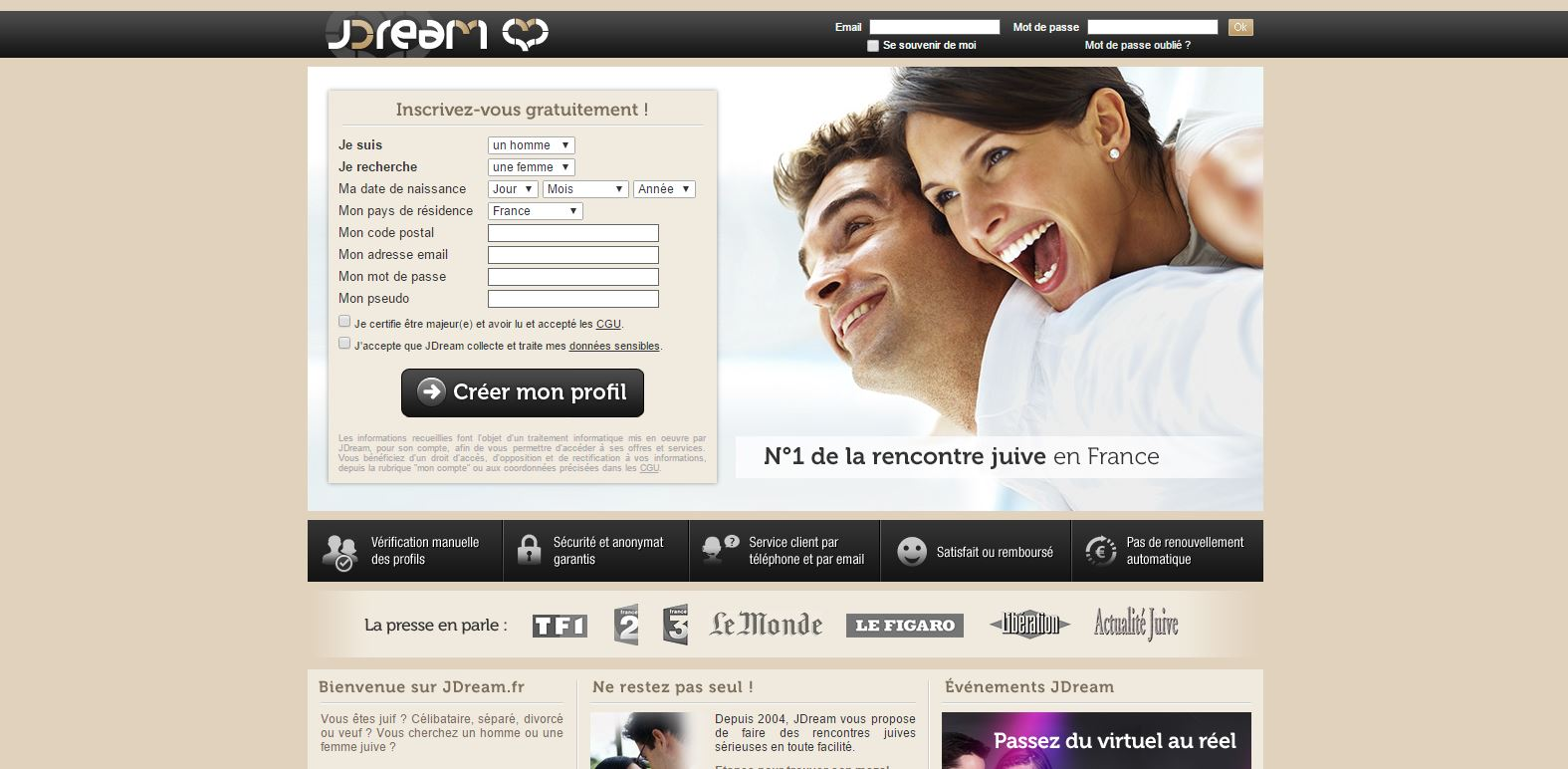 Site rencontre jdream